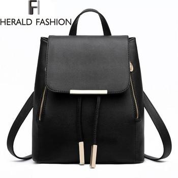 Women backpack high quality pu leather mochila escolar school bags for teenagers girls top handle backpacks.jpg 350x350