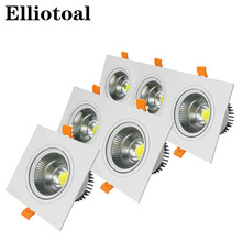 Indoor embedded grille Led COB bean gall light 3/5/7/10/12/20/30W double point three head lights LED AR111 grille single lights