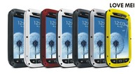 Original Caso de Gran Alcance Para Samsung GALAXY S3 I9300 Cubierta de la Caja Hermética Al Polvo A Prueba de Choques Impermeable De Aluminio de La Personalidad Creativa Fresca