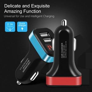 Image 3 - USB הכפול מטען לרכב עבור iPhone 11 פרו XR עם חכם LED תצוגת טלפון נייד מטענים לרכב מטען עבור huawei Mate 30 Pro Tablet