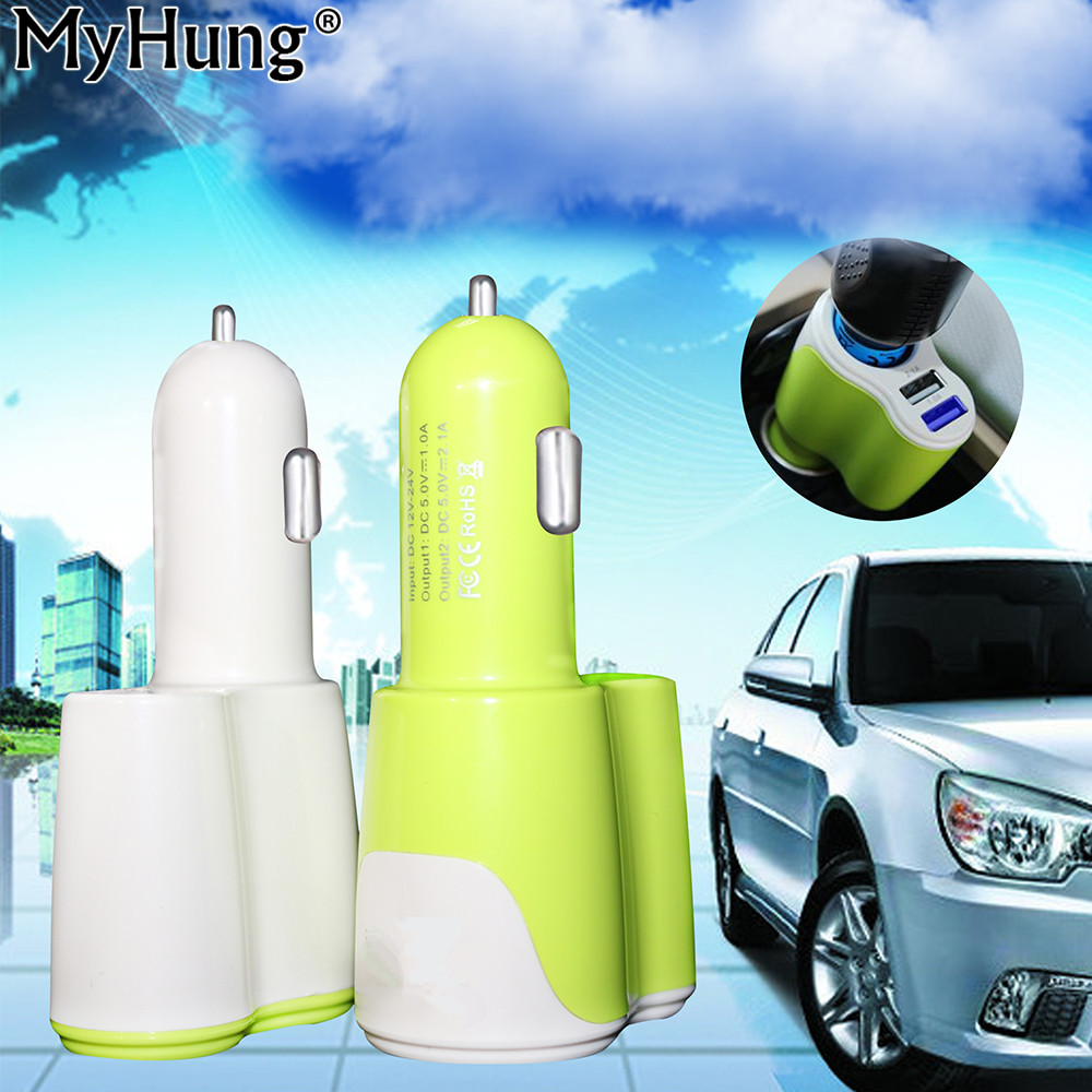 2 USB רב תכליתי 3 ב 1 5V 3.1A מטען לרכב מתאם עבור iPhone iPad סמסונג 12V-24V מכונית מצית שקע מתאם
