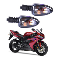 DWCX 2pcs Smoke Color Turn Signal Indicator Lamp Light For Motorcycle BMW R1200GS G450X K1200S R1200GS