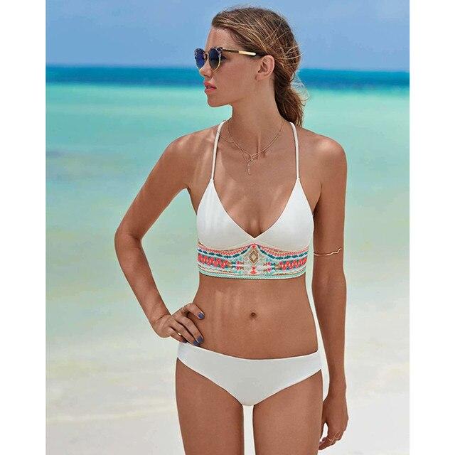 New push up bikinis set 2018 female two-pieces swimsuit flower ruffles tops bikini halter bathing suit scrunch bottoms swimwear