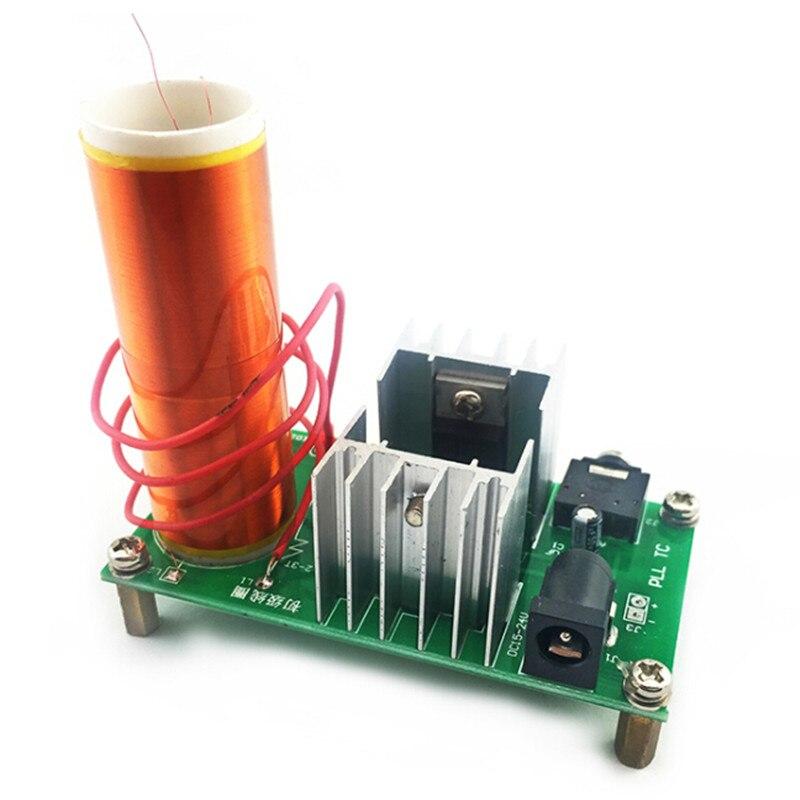 DIY Kit Électronique Pièces Production Bobine Tesla Kit 15 W MINI Musique Haut-Parleur Kit Electronique DC 15-24 V 3.5 Socket