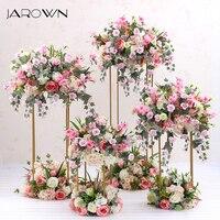 JAROWN кованого железа Геометрия искусственный цветочный Свадебные украшения оконная композиция четыре 1 предмет украшения для домашнего пра