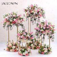JAROWN Wrought Iron Geometry Artificial Floral Wedding Decoration Window Arrangement Four Piece Set Home Party Decor Flowers