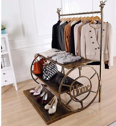 Upscale clothing racks. Zhongdao bag shoe rack. Decorative rack wheel water table551 coatrack landing racks shoe rack bedroom clothes rack multi function dryer