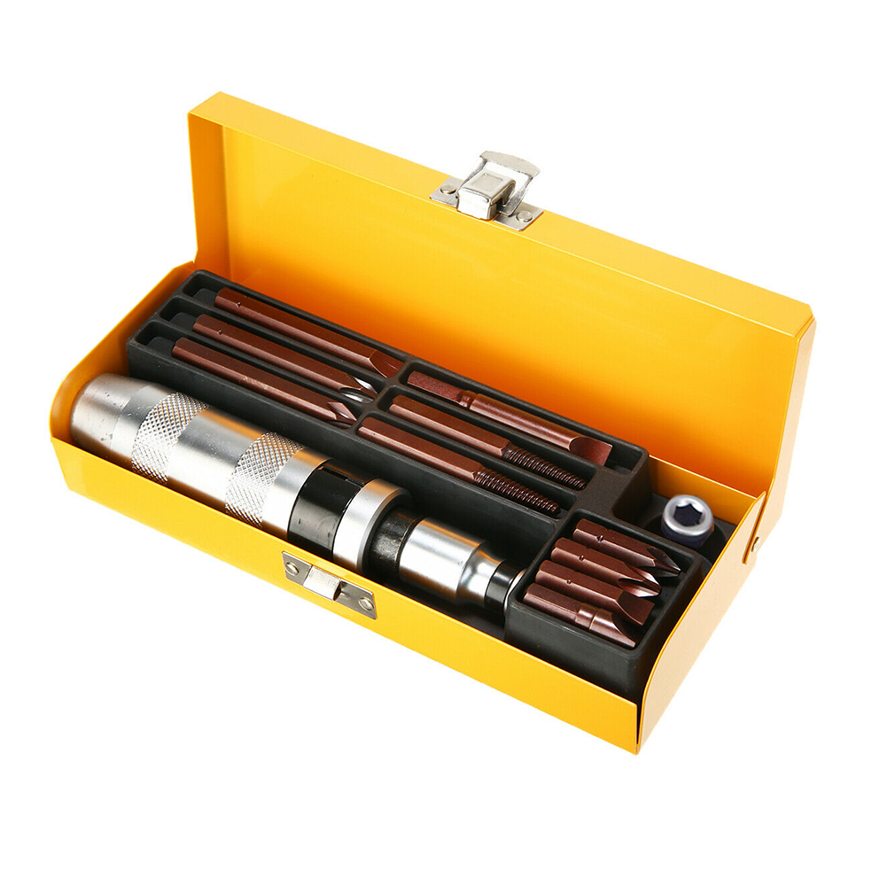 12pcs Flat Extractor Professional Impact Driver Bits Practical Socket Kit Electric Hand Tool Screw Screwdriver Set Drill