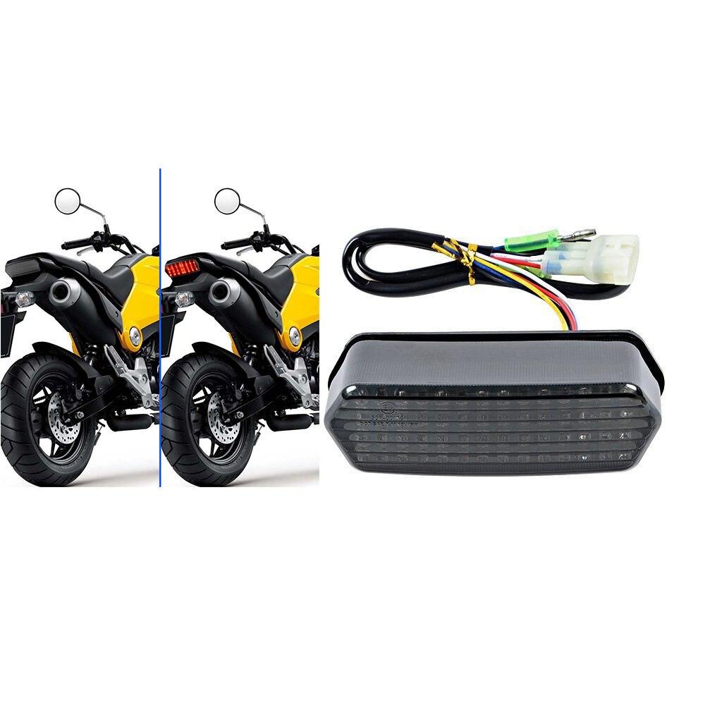 Triclicks 80W mootorratta saba lambi uus integreeritud LED-signaali - Mootorrataste tarvikud ja osad - Foto 2