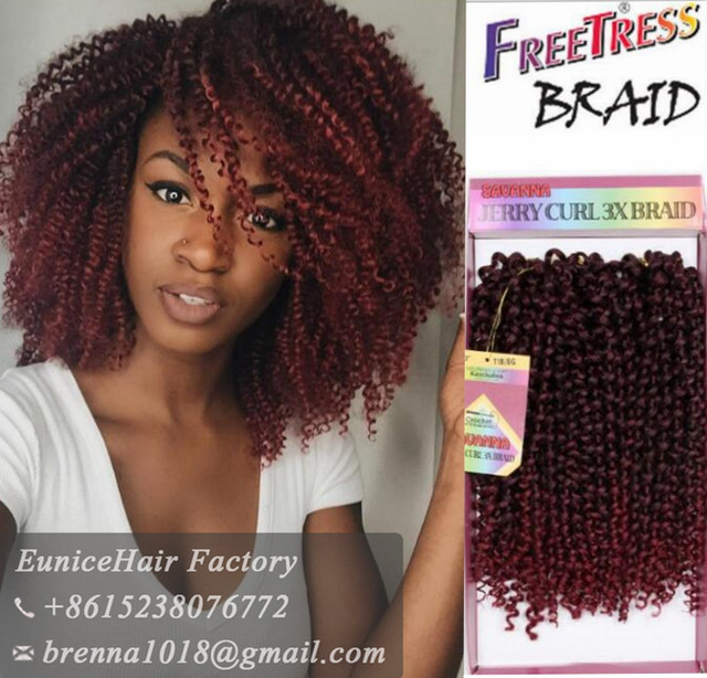Braid Jerry Curl Braids for Black Women Synthetic Hair Crochet Braids ...