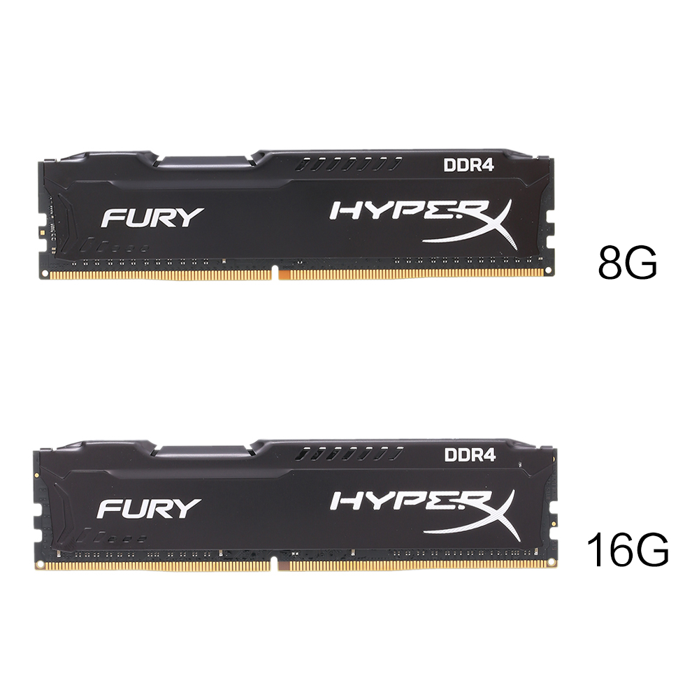 Kingston HyperX FURY 8GB 16GB 2400MHz Memory RAM DDR4 Ram DIMM Memory Intel Memoria Ram Desktop PC Computer Memory Stick original kingston hyperx hx424c15fb 16 16gb memory bank