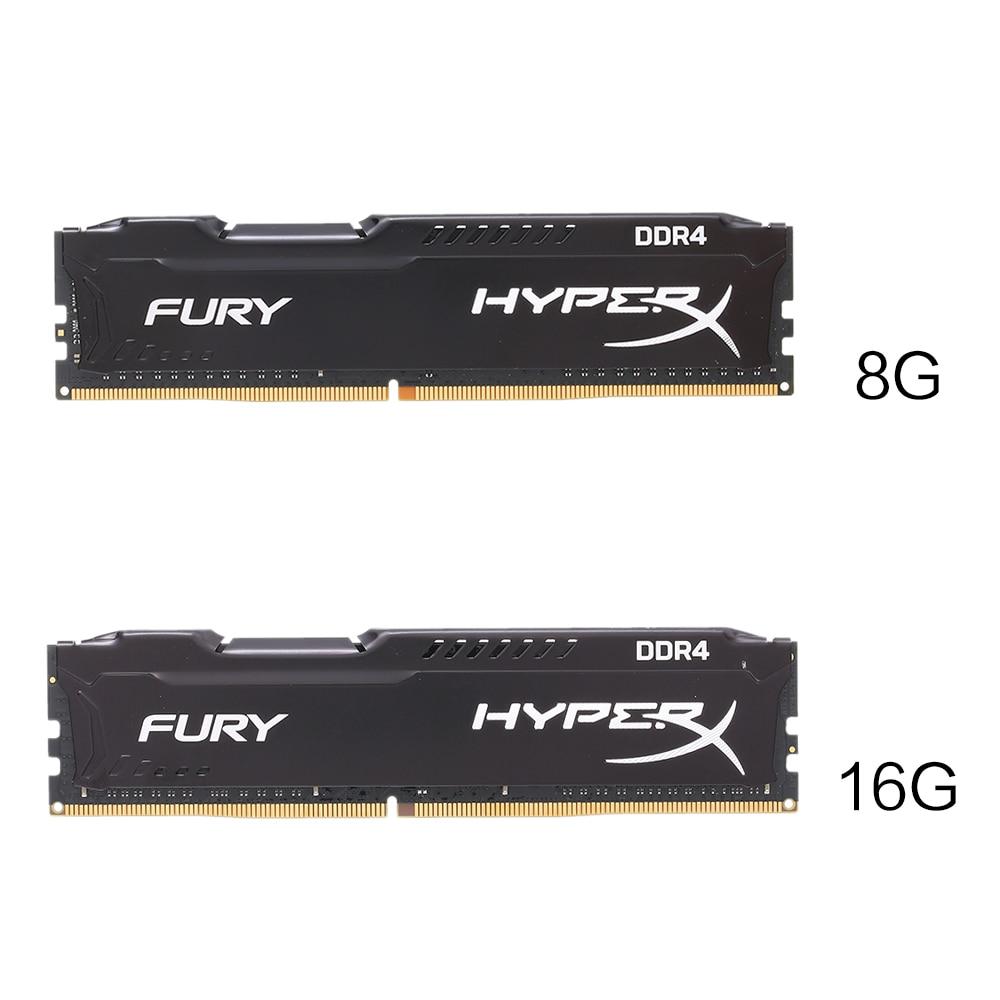 Фото Kingston HyperX FURY 8GB 16GB 2400MHz Memory RAM DDR4 Ram DIMM Memory Intel Memoria Ram Desktop PC Computer Memory Stick