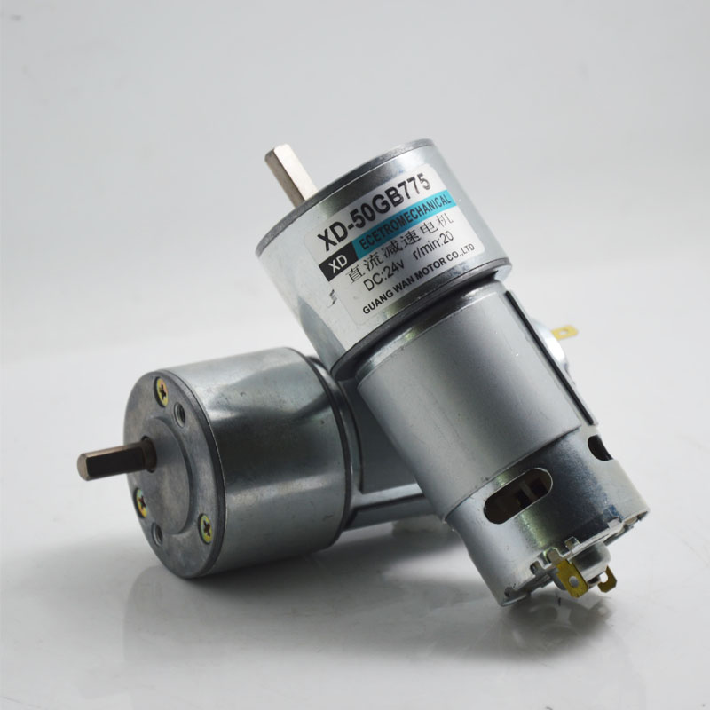 DC 6V / 12V / 24V 50GB775 miniature gear metal gear high torque DC motor machinery / Power Tools / DIY Accessories motor 12v24v dc gear motor 60w miniature high torque motor slow speed small motor