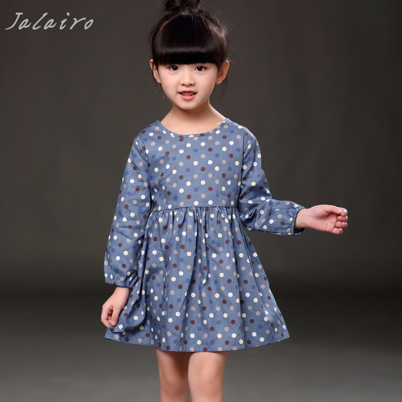 Autumn Long Sleeve Girl Dress Spring New Casual Style Baby Girl Dresses Girls Clothes Summer Dress for Kids Clothes 8 Colors fashion 2016 new autumn girls dress cartoon kids dresses long sleeve princess girl clothes for 2 7y children party striped dress
