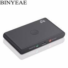 Binyeae Bluetooth CSR Stereo Audio Music Transmitter Receiver 2-in-1 mini portable A2DP Wireless Adapter for TV tablet PC laptop