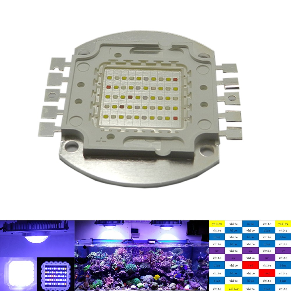 100w 50*2w Aquarium Bulb Light Minimalistic Multichip Diy Led Buid Spectrum for Growth,100w Led Grow Light for home security wg26 34 em id card reader 125khz door access control system with keypad for rfid card waterproof f1710a