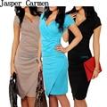 2017 new  Fashion Women short sleeve dress Deep V neck Dress Sexy  Party Club Novelty Vestidos slim hip Free Shipping  23
