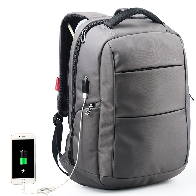 Man Business Knapsack External Charging USB Function Laptop Backpack Anti-theft backpack Waterproof Travel Bag women 15.6 inch kingsons external charging usb function school backpack anti theft boy s girl s dayback women travel bag 15 6 inch 2017 new