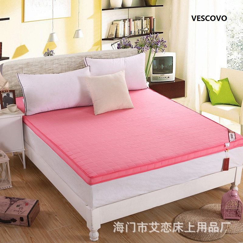 6.5cm Polyester filling Folding close skin soft Mattress six colors,size of king queen full twin Four seasons available 100% mulberry silk pure naturals blanket quilt bedclothes duvet filling for winter summer king queen twin size white red color