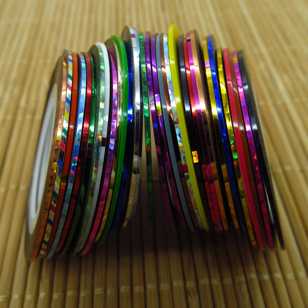 Lightning Bolt Striped Rainbow Water Marble Nail Art Tutorial