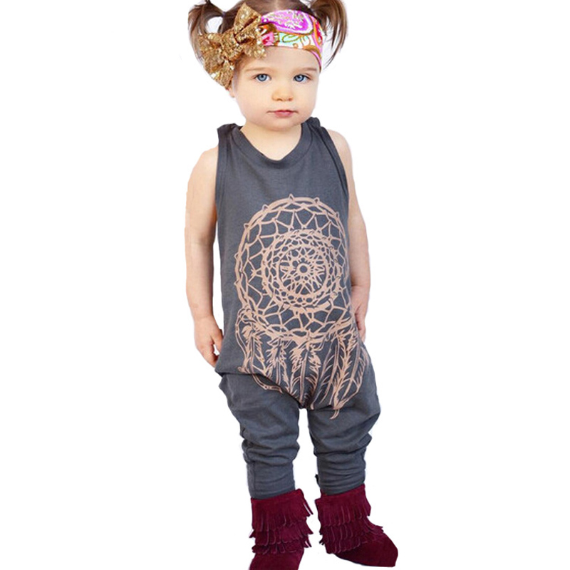 a3bdb1553 الصيف نمط الاطفال فتاة نمط الملابس رومبير 2017 الأزياء graffiti فتاة الاطفال  الملابس رومبير الصيف أكمام الطفل بذلة بوي