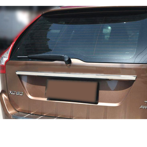 Image 2 - AX VOLVO XC60 2009 2014 kalıp bagaj kapağı kapı kolu şerit Accent garnitür Styling krom arka gövde kuyruk kapısı kapak Trim