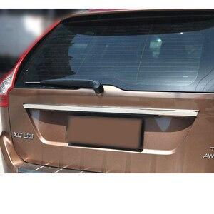 Image 2 - AX для VOLVO XC60 2009 2014 литьевая дверь багажника Ручка полоса акцент гарнир стиль хром задний багажник задний ворот крышка отделка