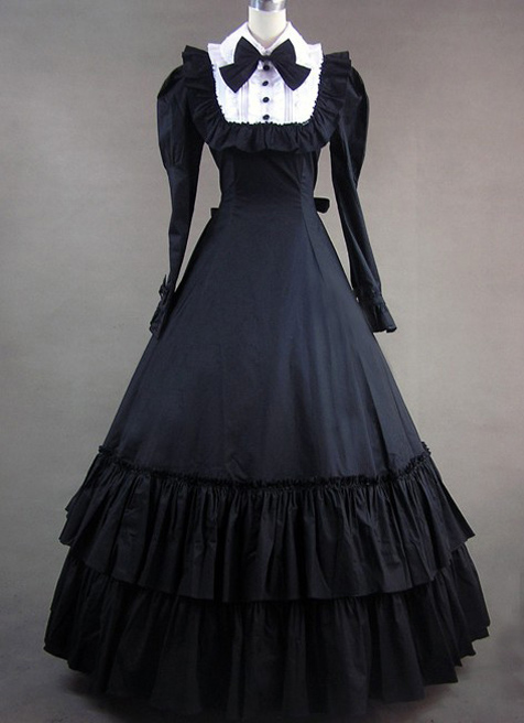 Halloween Cosplay manches longues Bowknot Cosplay Costumes gothique victorien robe de princesse robe de bal Lolita robes