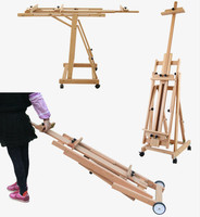 Easel Caballete De Pintura Artist Oil Paint Easel Wooden Painting Stand Folding Multipurpose Easel Stand Painting Accessories