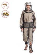 Summer fishing anti-bite breathable anti-mosquito anti-mosquito four-piece jungle camping adventure mosquito-proof clothing suit