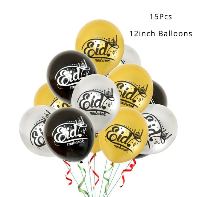 2019 Ramadan Decoration Gold Latex Balloons Confetti Balloon for Eid Mubarak Hajj Ramadan Party Decor Muslim Event Party Favors 2