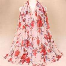 Новинка года; весенне-летние модели с принтом; женский шарф с цветочным узором; шаль; 10 шт.;