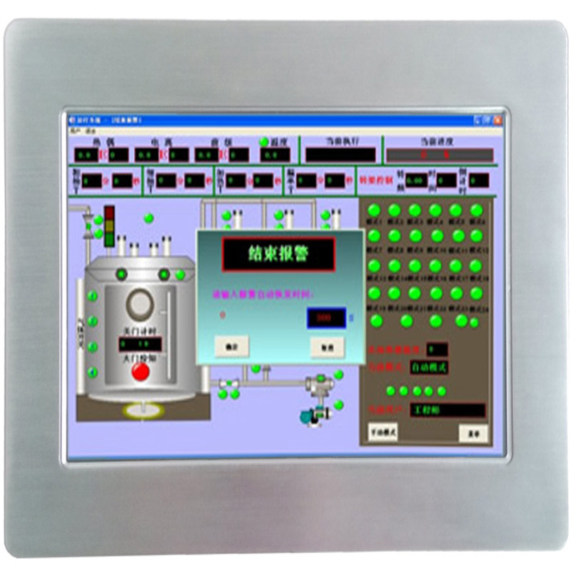 Alles in een pc IP65 Front ventilatorloos touchscreen I0.1 Inch industriële touch Panel PC