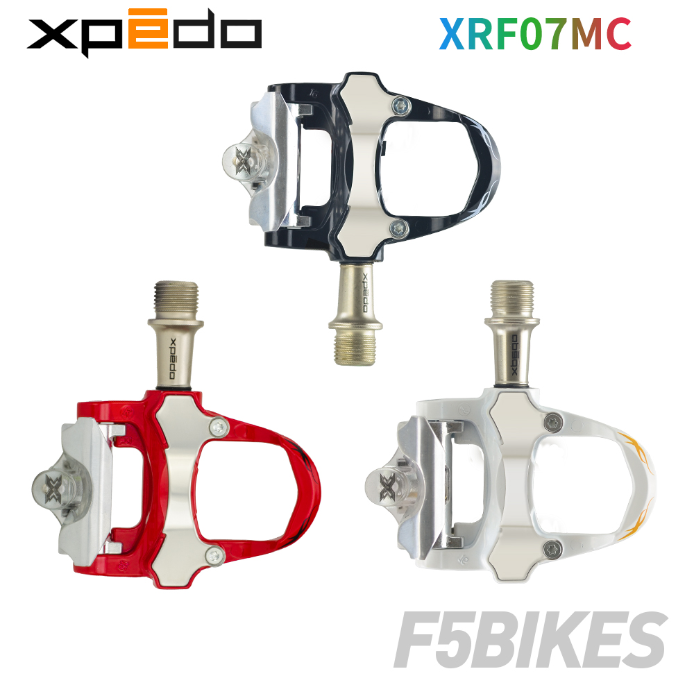 Xpedo Wellgo XRF07MC 235g alloy Road Bicycle clipless Pedals with 2 pairs look keo Compatible cleats
