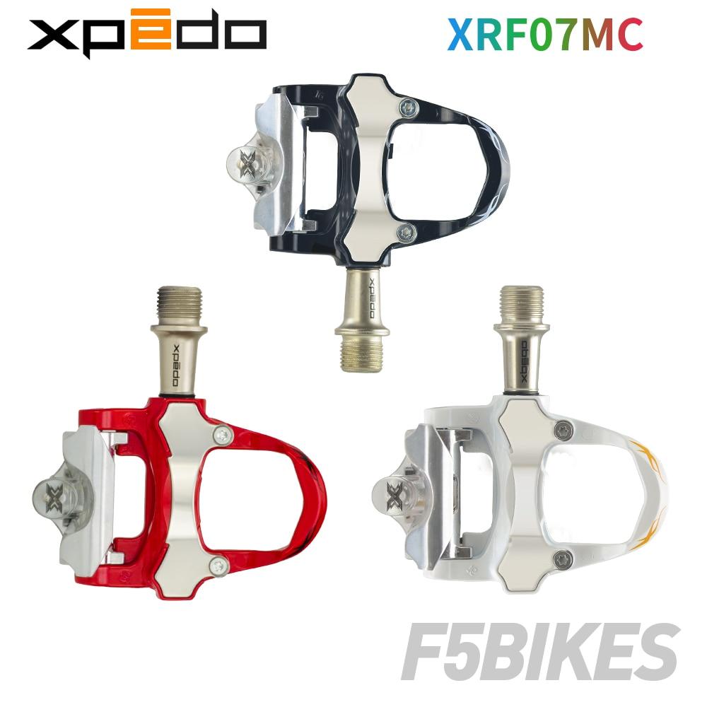 Xpedo Wellgo XRF07MC 235g alliage vélo de route pédales automatiques avec 2 paires look keo Compatible crampons autobloquant pédale