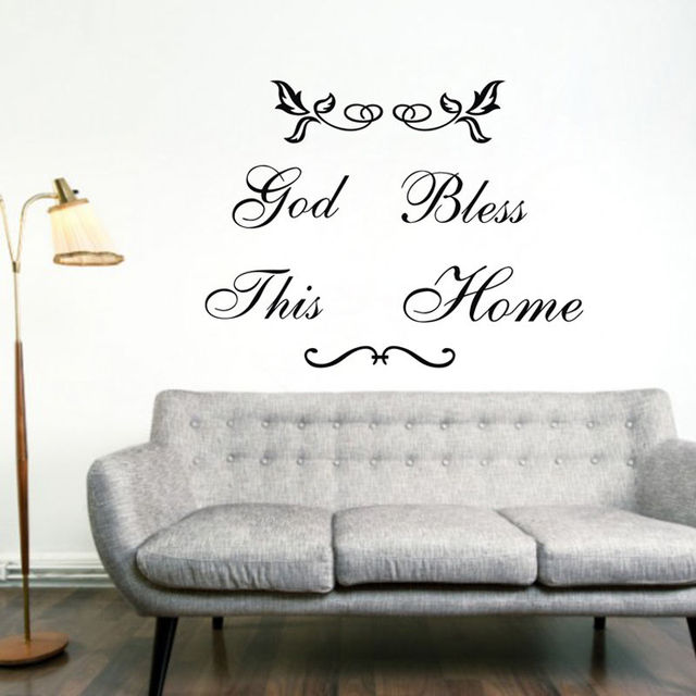 god bless this home wall sticker home decor decals black vinyl art