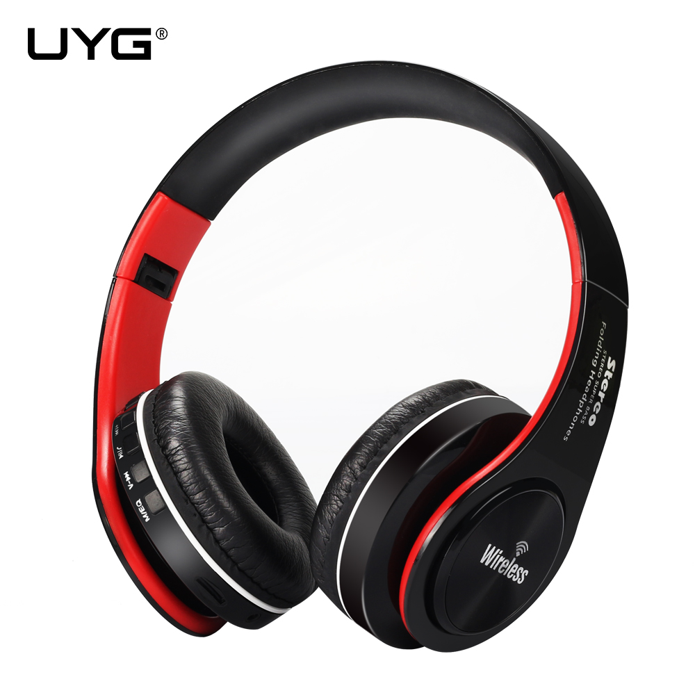 UYG bluetooth headphone wireless headphones stereo headset handsfree answer with Microphone TF Card mp3 FM Radio for smartphone цена 2017