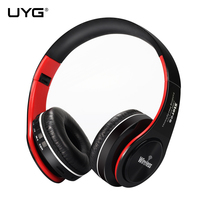 UYG Bluetooth Headphone Gaming Headset Bleutooth Earphones Stereo Gamer Auriculares With Microphone Support TF Card FM
