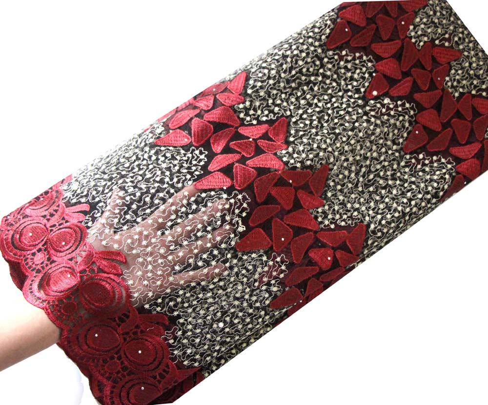 wine african lace fabric