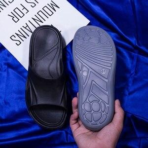 Image 5 - Sanzoog מותג אופנה גברים נעלי בית גדול גודל 36 ~ 50 קיץ חוף כפכפים רך נוח נעלי בית גברים של לסתום נעליים
