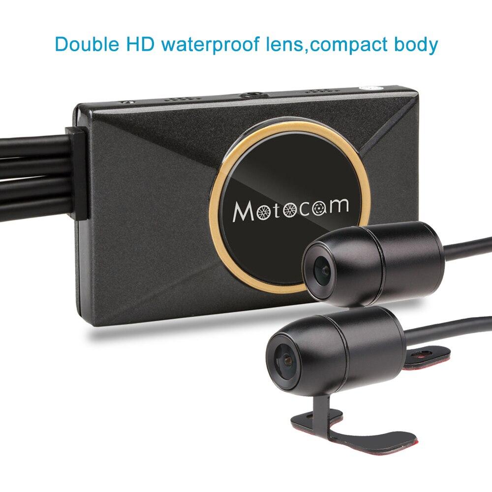 3 дюймов M7F Wi Fi Видеорегистраторы для мотоциклов Камера sony IMX Двойной объектив 1080 P регистраторы спереди заднего вида Moto видео Регистраторы gps