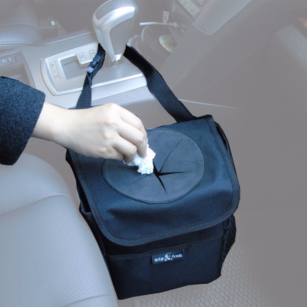Big Ant car organizer Stowing Tidying Car Trash Bag for Little Leak Proof Car Garbage Bag with Lid and Storage Pockets box car