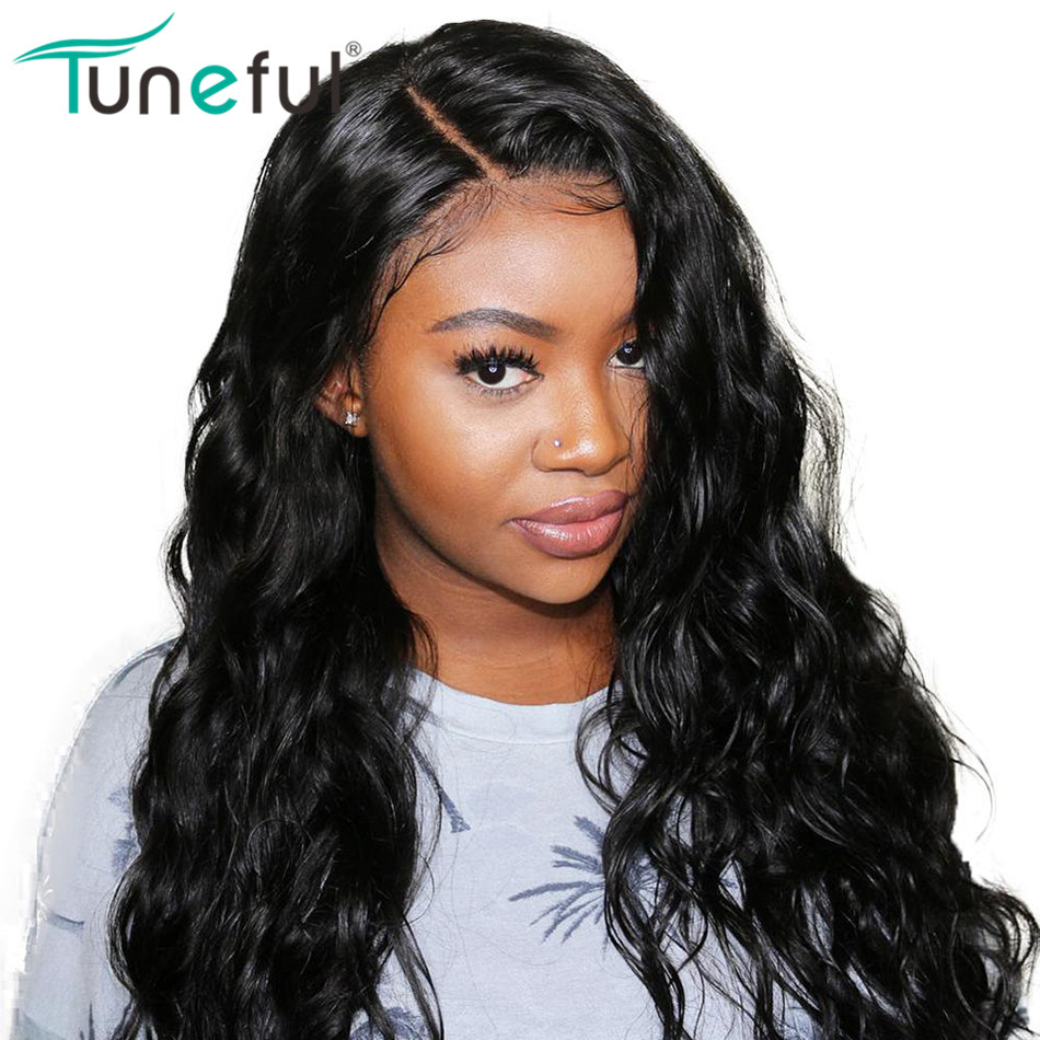 Lace Frontal Human Hair Wigs Body Wave 8-26 Inch 150% Brazilian Remy Lace Frontal Wigs Free Part Pre Plucked Hairline Baby Hair