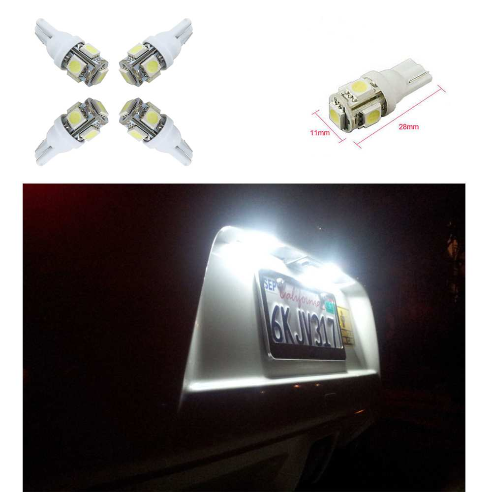 Practical Universal Exterior Light 100 Pcs T10 Wedge 5-SMD 5050 LED Light bulbs White W5W 2825 158 192 168 194 194 168 5050 w5w t10 5 smd white led light bulbs replacement for interior dome map dashboard lights lamp exterior license
