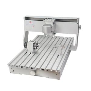 Image 1 - 80mm ציר מנוע מהדק התאסף CNC 6040 מסגרת עם סיבובי עבור נגרות נתב מכונת אלומיניום מתכת חרט