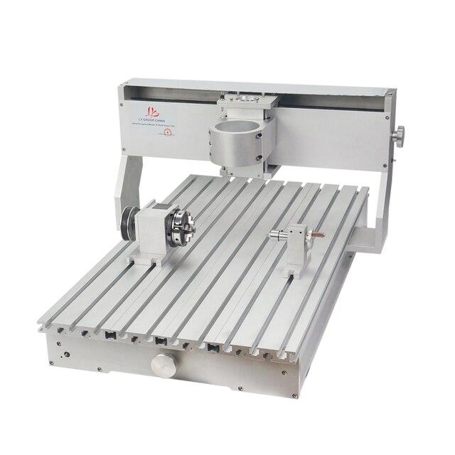 80mm ציר מנוע מהדק התאסף CNC 6040 מסגרת עם סיבובי עבור נגרות נתב מכונת אלומיניום מתכת חרט