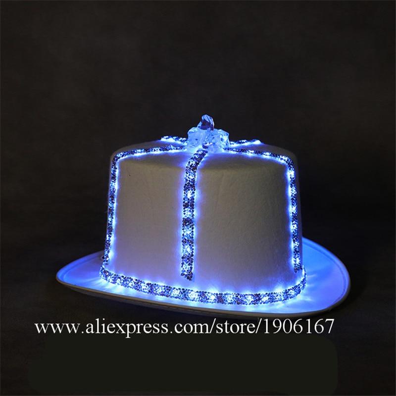 Led light hat music festival nightclub bar light stage props birthday gift01