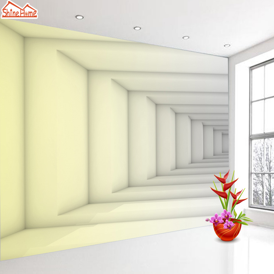 ShineHome- Large Custom Abstract Living Room Space Photo Wallpapers 3D Wall Murals Contact Paper Home Decor Wallpaper-Roll-Size shinehome lovely lily blossom flower wallpaper for bedroom murals roll for 3d walls wallpapers for 3 d living room wall paper