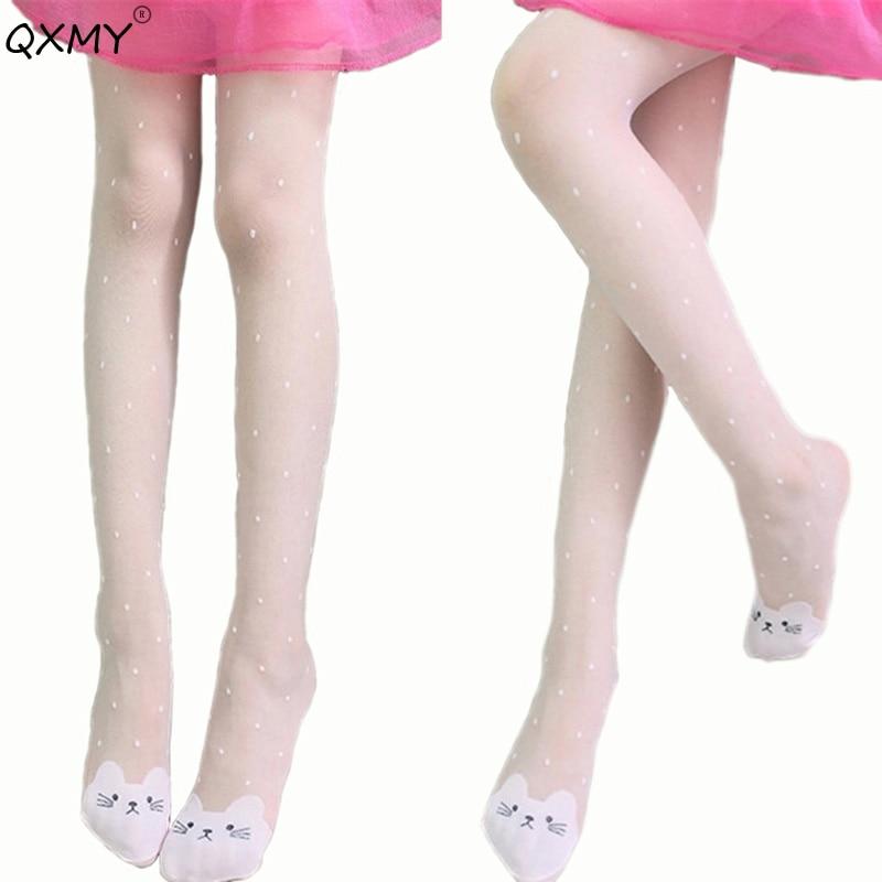 2019 Mode Herbst Kinder Mädchen Strumpfhosen Samt Candy Farbe Collant Strumpfhosen Für Kinder Kinder Kleidung Weiß Tanzen Strümpfe 2-9 T