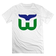 2017 Brand T Shirt Men FashionMen's Old Time Hartford Whalers Vintage Logo Cotton Short Sleeve T Shirts